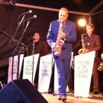 Pee Bee Beugels playing the sax at Jazz by the Sea Domburg