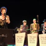 Photo: Yvonne performing at CD release Pee Bee & The Night Train